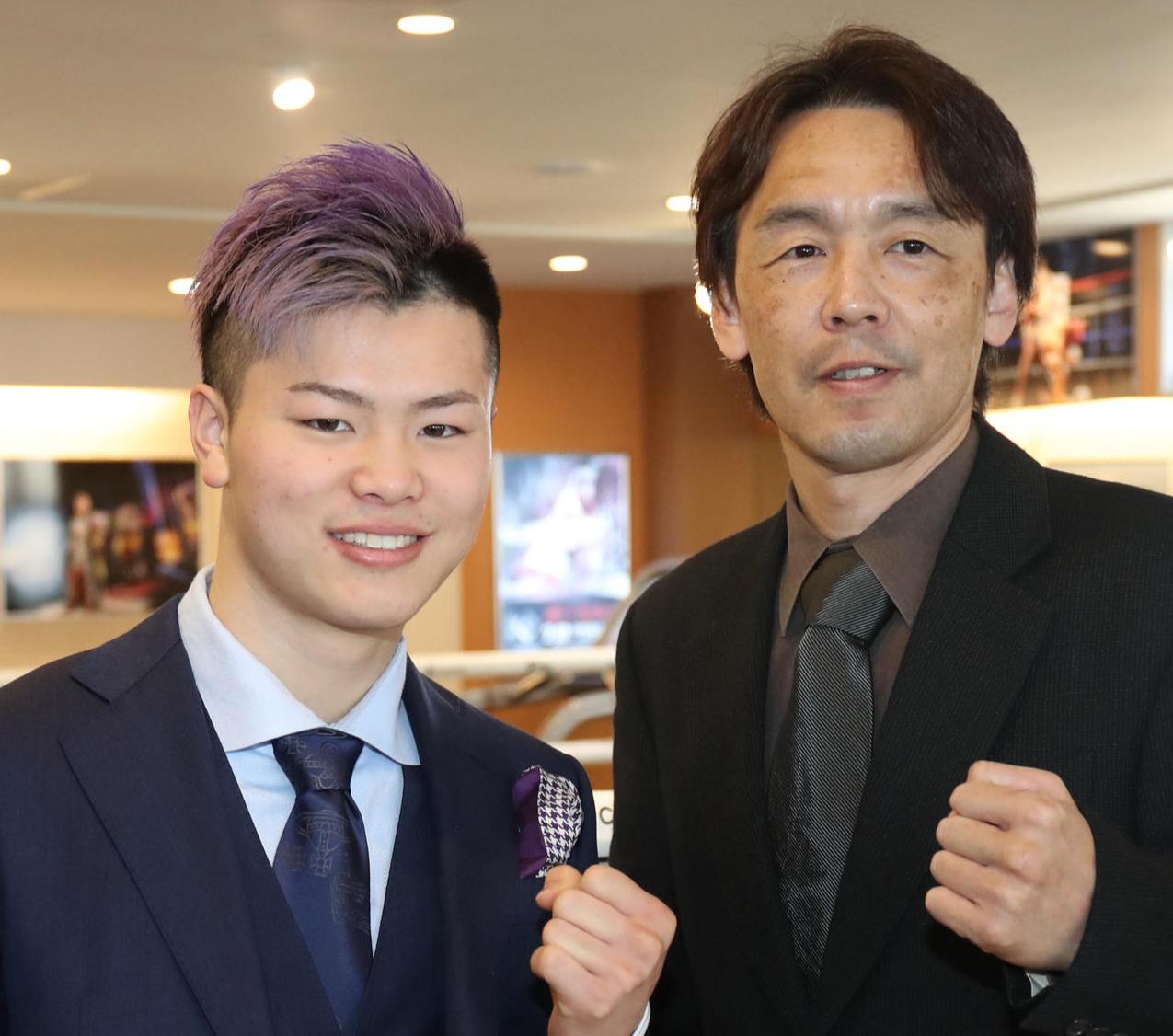 那須川(左)葛西裕一氏(2018年2月17日撮影)
