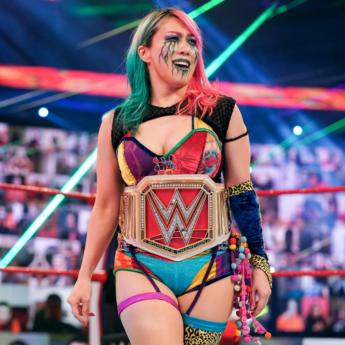 4回目のレッスルマニア出場となったロウ女子王者アスカ(C)2021 WWE, Inc. All Rights Reserved.