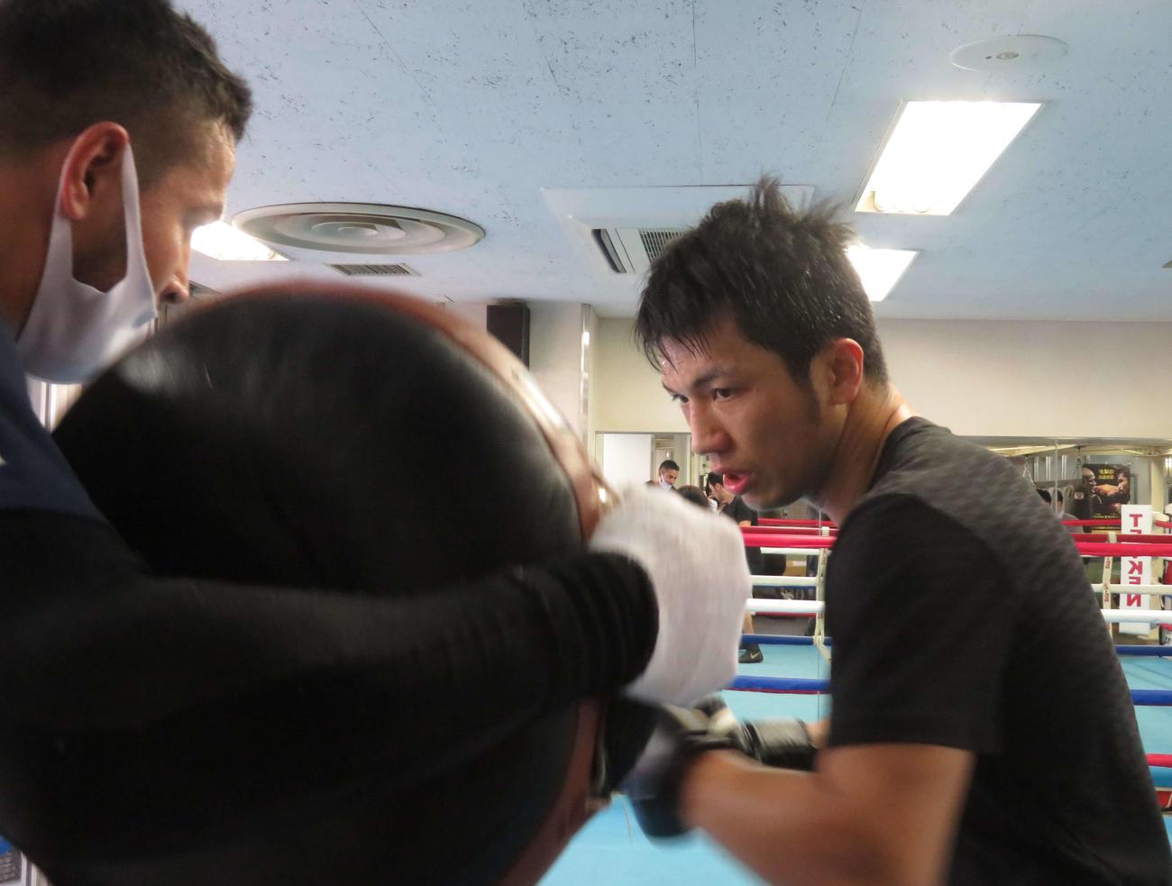 WBA世界ミドル級スーパー王者村田諒太(2021年1月12日撮影)