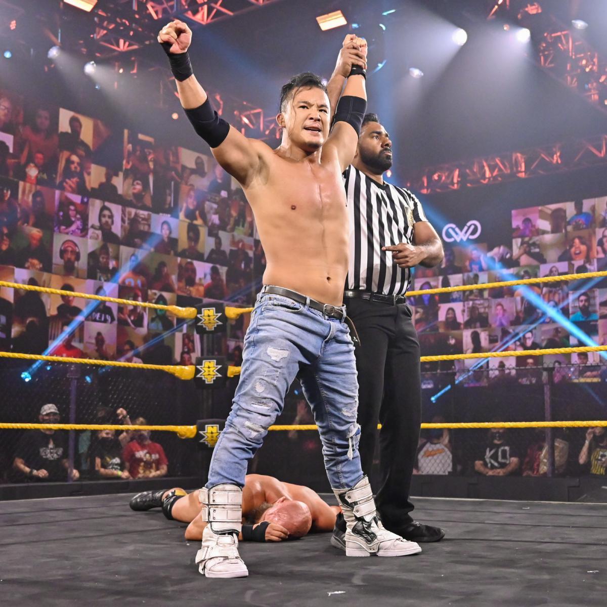 WWEクルーザー級王座を獲得したKUSHIDA(C)2021 WWE, Inc. All Rights Reserved.