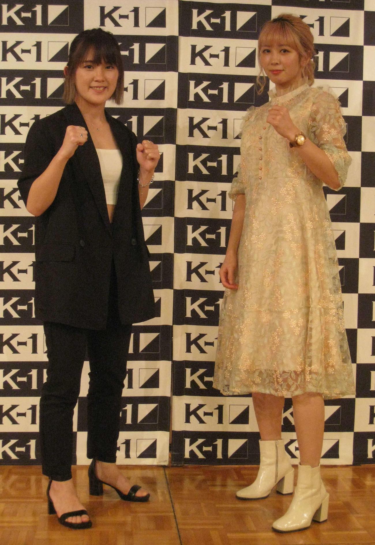 ファン待望の1戦が決まったMIO(左)と菅原美優(撮影・吉池彰)