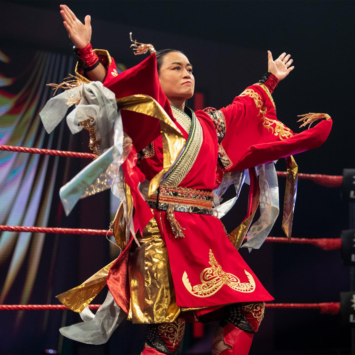 2度目の挑戦でNXT UK女子王座を獲得した里村(C)2021 WWE, Inc. All Rights Reserved.