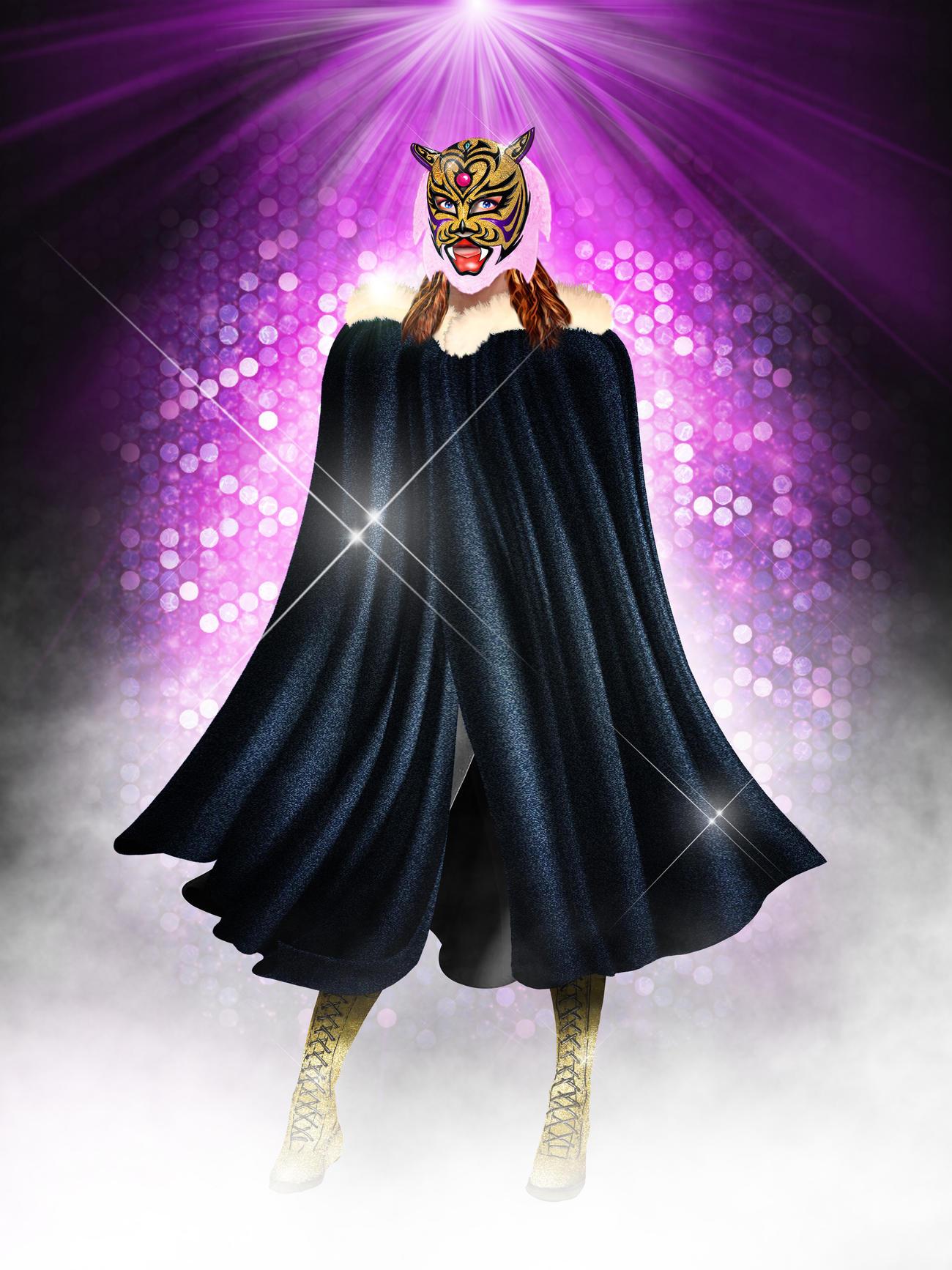 7月29日にデビューする女性版タイガーマスク「タイガークイーン」(ストロングスタイルプロレス提供)