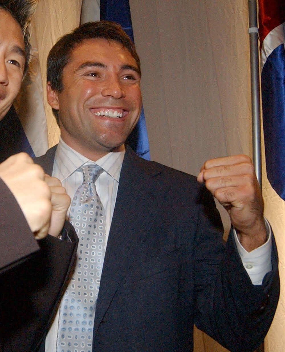 オスカー・デラホーヤ氏(2002年12月撮影)