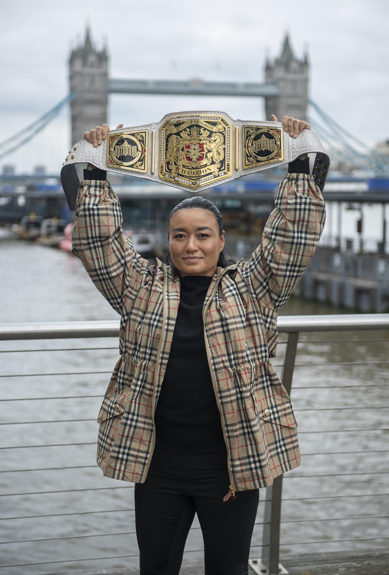 NXT UK女子王座を獲得した里村明衣子(C)2021 WWE, Inc. All Rights Reserved.