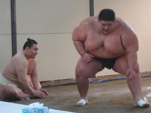 Toma with Hakuho