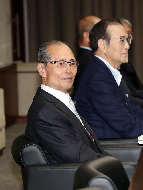大相撲の継承発展を考える有識者会議に出席した王委員(撮影・鈴木正人)