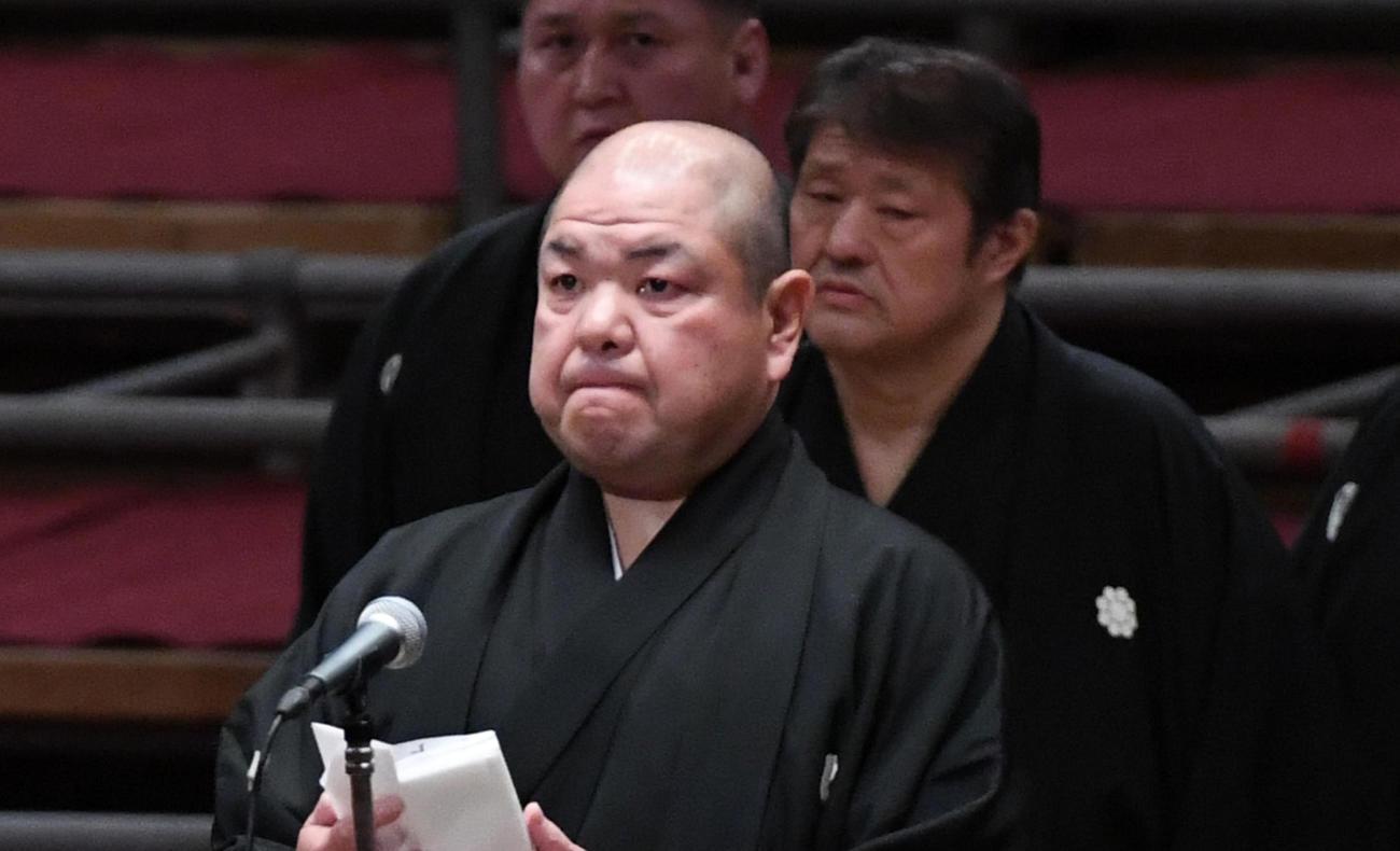 八角理事長(2020年3月22日撮影)