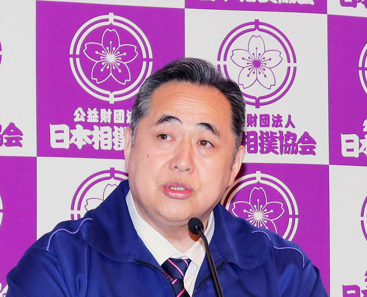 芝田山広報部長(2020年4月3日撮影)