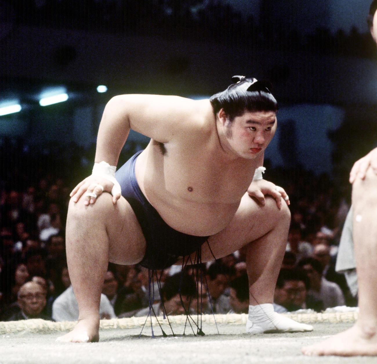 現役時代の元関脇麒麟児(1978年撮影)