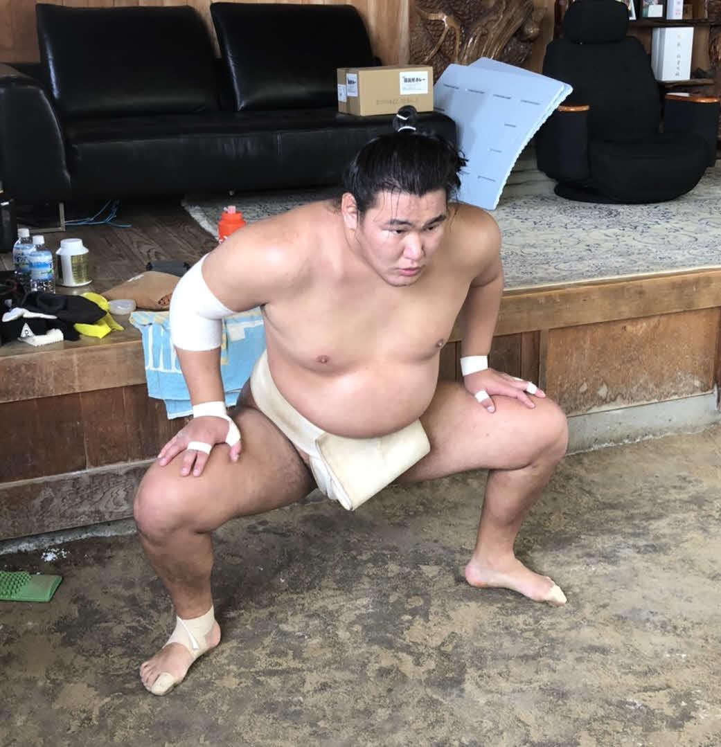 夏場所に向けて稽古に励む豊昇龍(日本相撲協会提供)