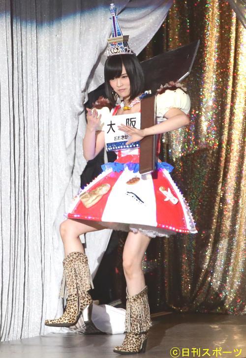 第5回AKB48じゃんけん大会 通天閣ドレスで登場する山本彩(2014年9月17日撮影)