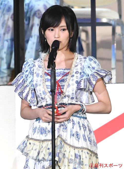 第8回AKB48選抜総選挙 4位の山本彩は静かな口調で思いを語る(2016年6月18日撮影)