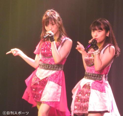 25歳の生誕祭公演に臨んだNMB山本彩(左)(2018年7月18日撮影)
