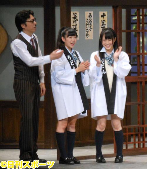 吉本百年物語に渡辺美優紀(中央)とゲスト出演(2012年6月4日撮影)
