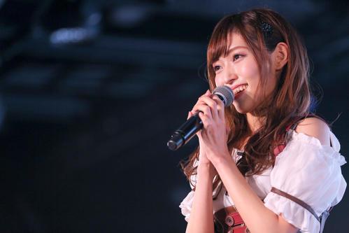 101日ぶりの劇場公演出演で笑顔を見せるNGT48山口真帆(C)AKS