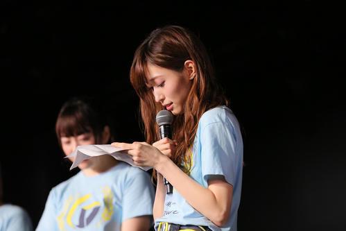 101日ぶりの劇場公演に出演し手紙を読みながらグループ卒業を発表したNGT48山口真帆(C)AKS