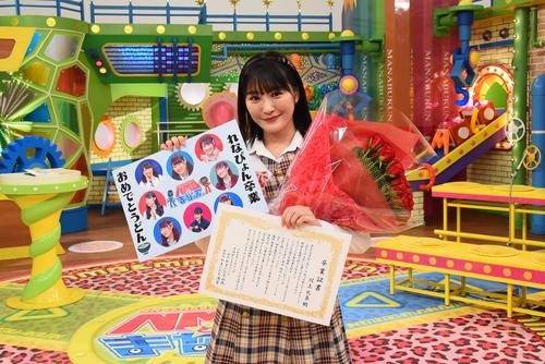 グループ卒業に先立ち、「NMBとまなぶくん」の最終収録を終えた川上礼奈