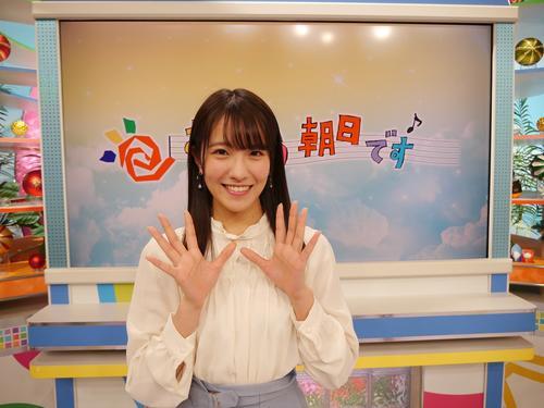 1週限定ながら「おはよう朝日です」アシスタントに抜てきされたNMB48の小嶋花梨