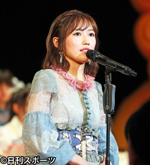 第9回AKB48選抜総選挙開票イベント 2位の渡辺麻友(2017年6月17日撮影)