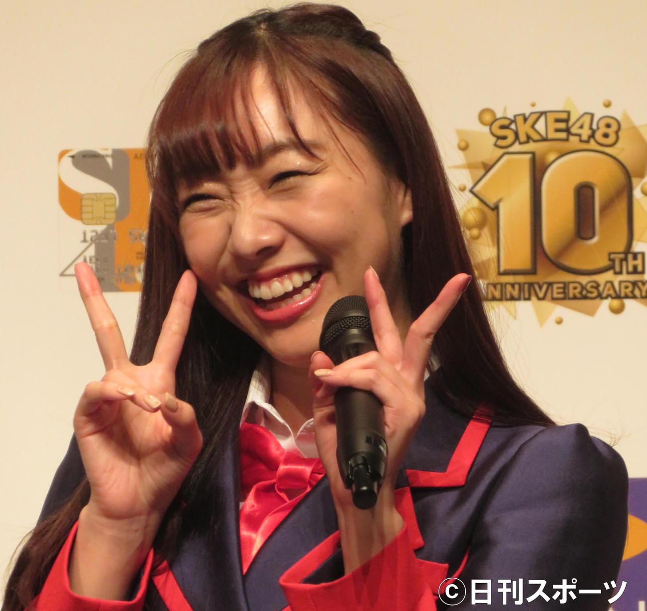 須田亜香里(2018年11月12日撮影)