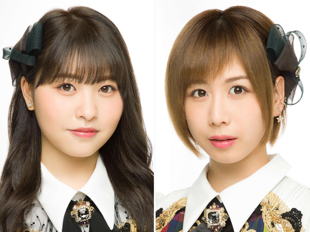 M-1グランプリ2020の1回戦に挑戦するAKB48中西智代梨(左)と大家志津香(C)AKB48