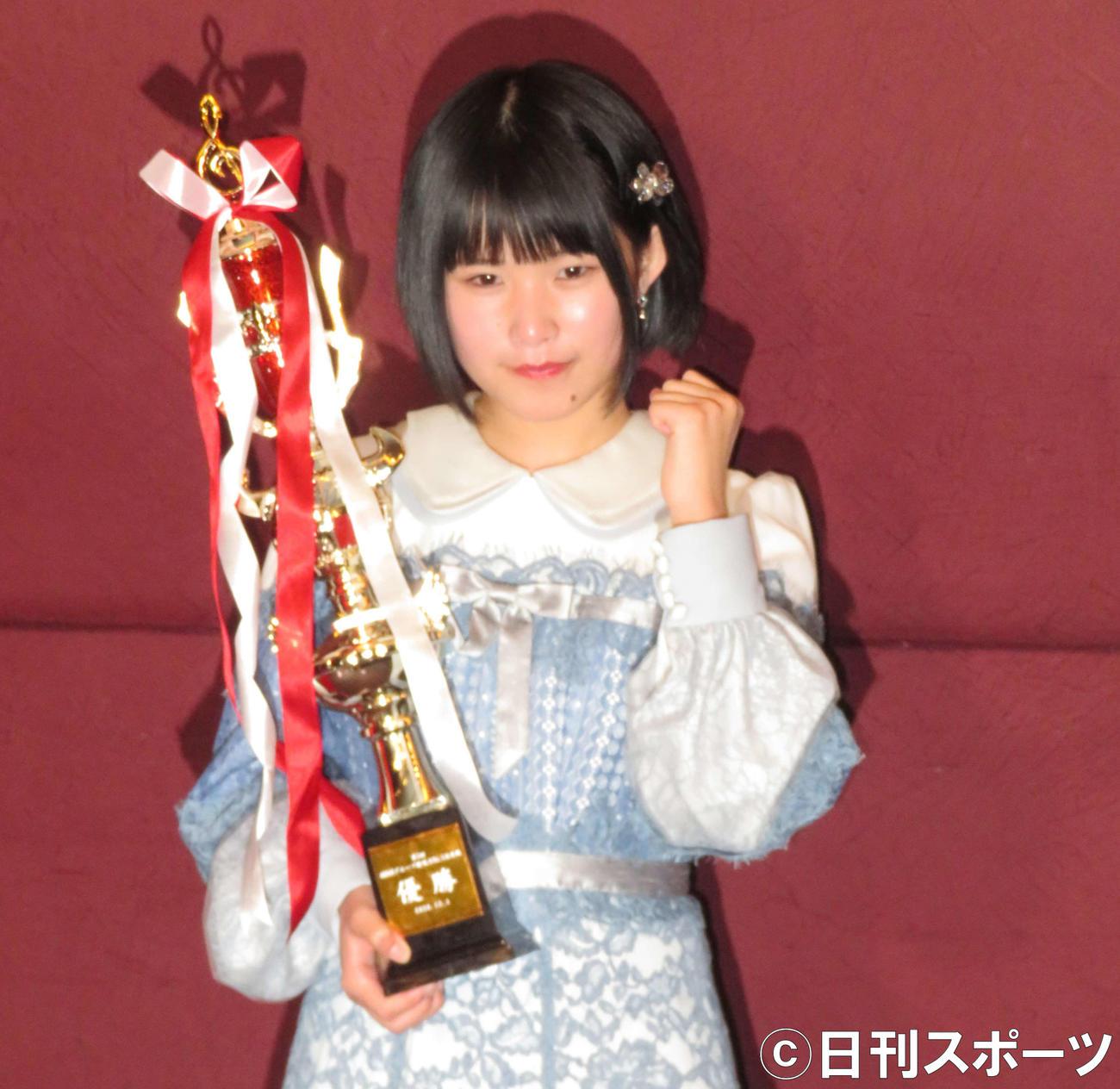 「第3回AKB48グループ歌唱力No.1決定戦」で優勝したSTU48池田裕楽