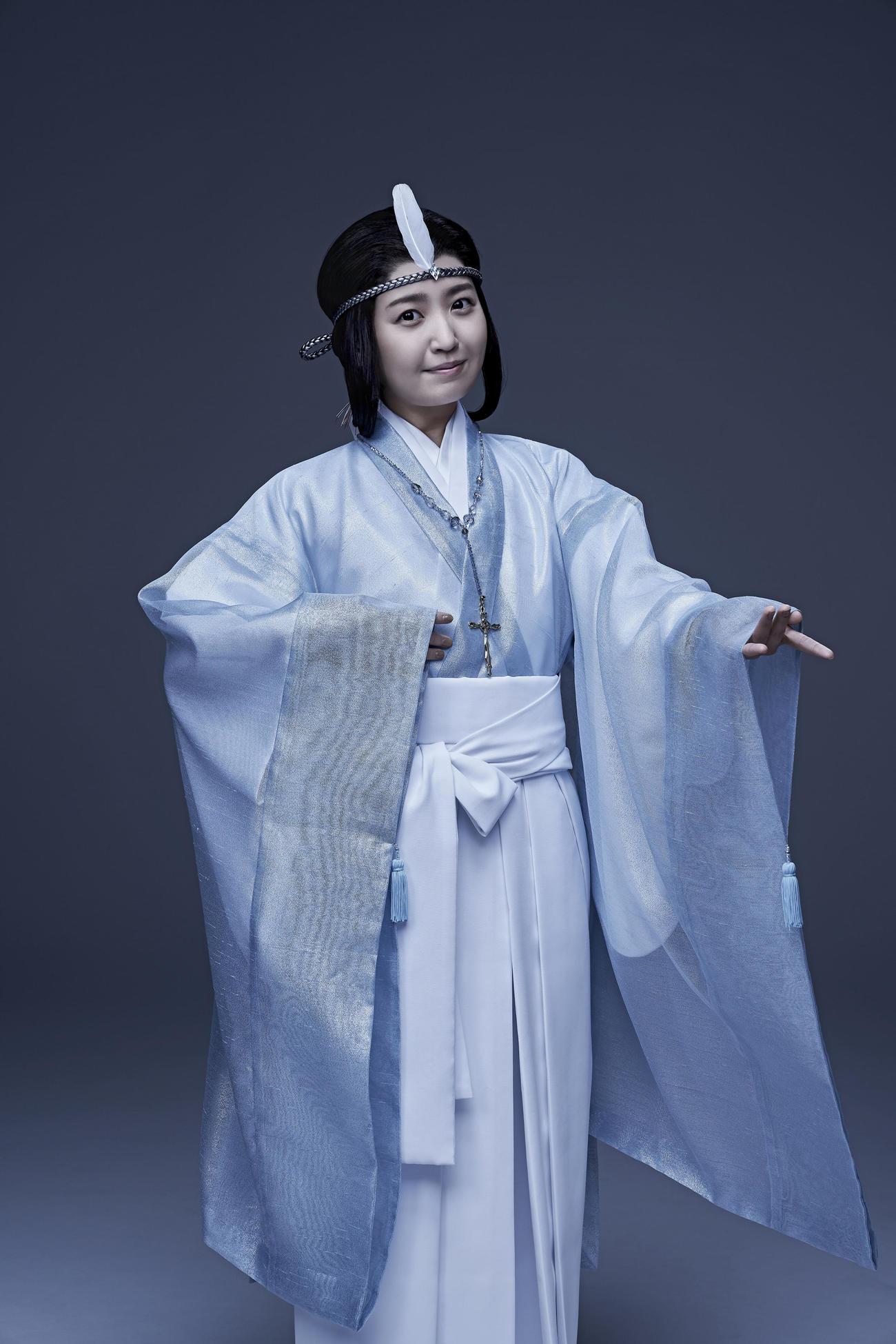 舞台「未来記の番人」で紅羽役を演じるSKE48惣田紗莉渚(外部提供)