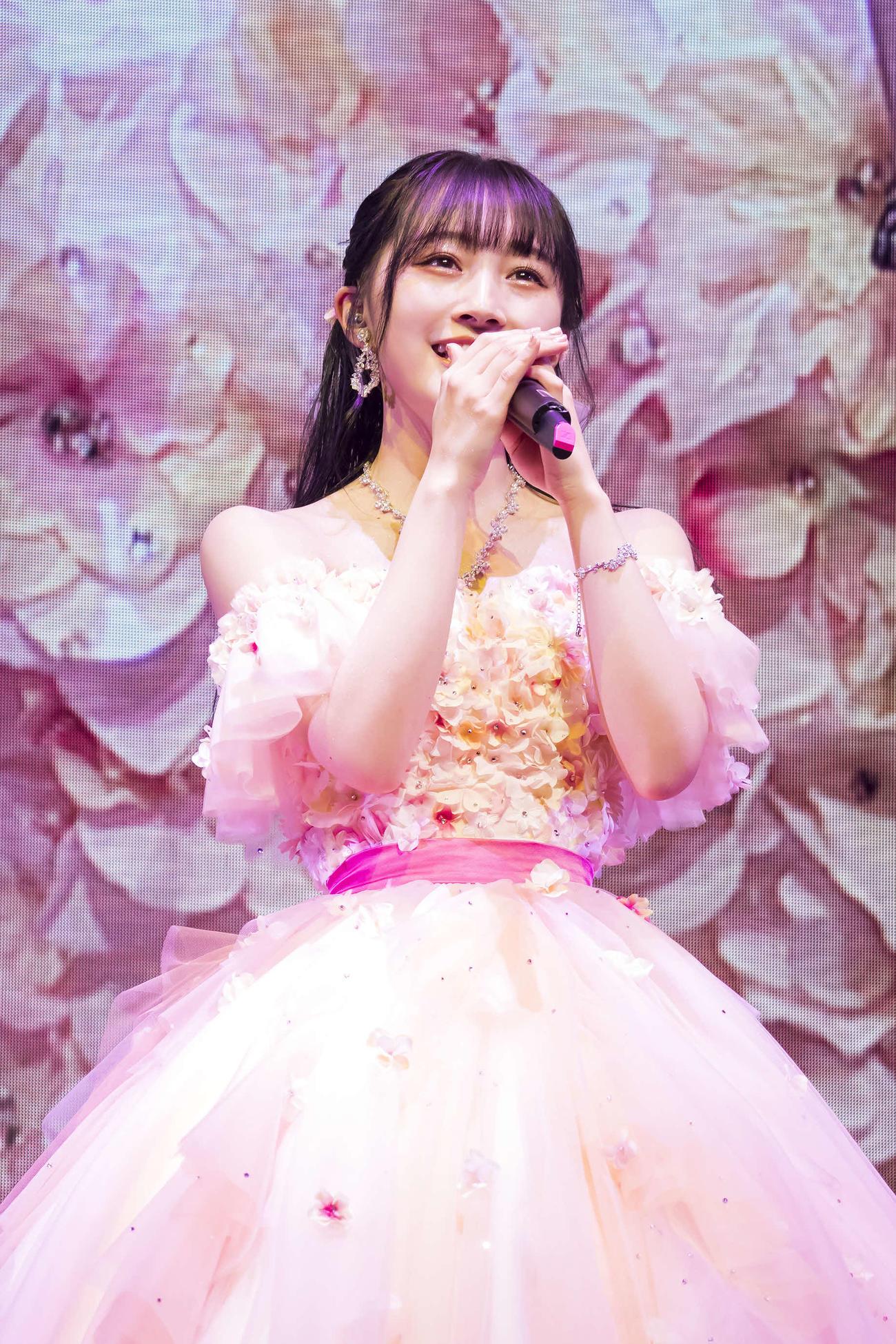 卒業コンサートを行ったNMB48山本彩加(C)NMB48