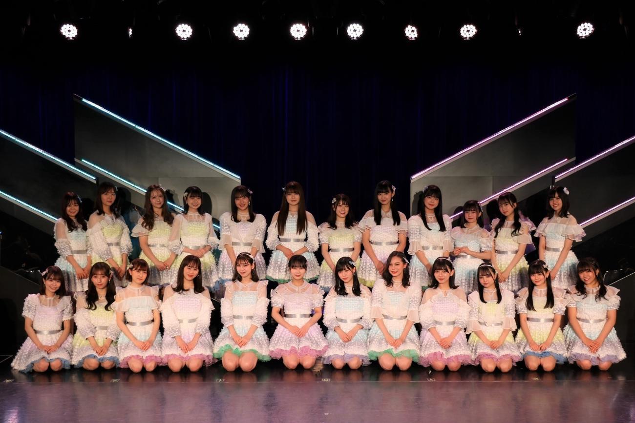 HKT48が5月に発売する新シングルの選抜メンバー24人(C)Mercury