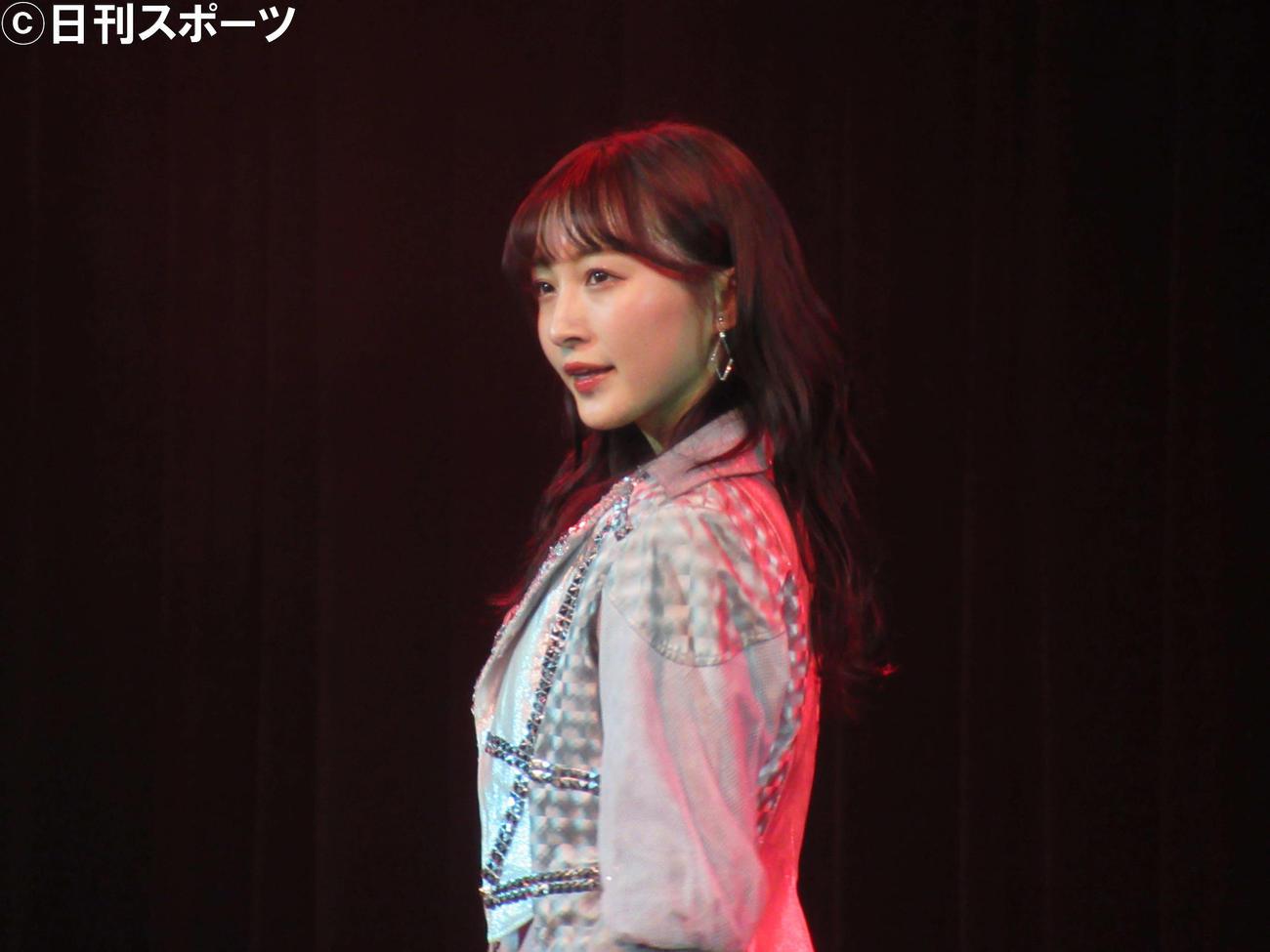 卒業公演を行ったNMB48山本彩加(撮影・星名希実)