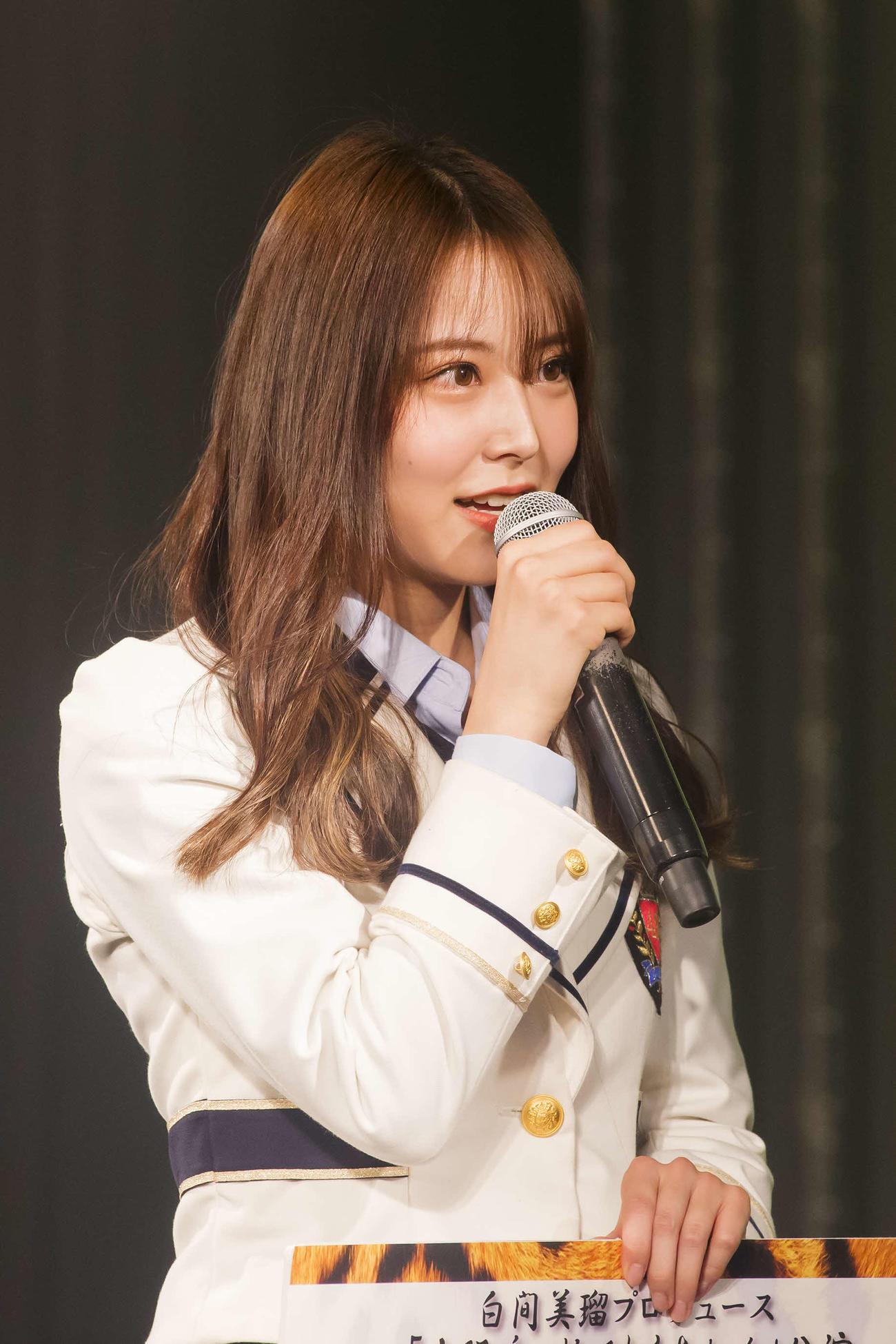 25枚目シングルでセンターを務めることが決まった白間美瑠(C)NMB48