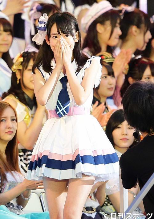 第5回AKB48選抜総選挙開票イベント 25位の宮脇咲良(2013年6月撮影)