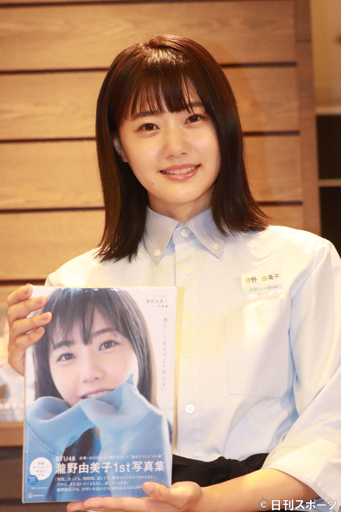 SHIBUYA TSUTAYAの一日店長に就任した瀧野由美子(撮影・勝部晃多)
