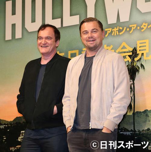 「ワンス・アポン・ア・タイム・イン・ハリウッド」公開にあわせ来日したクエンティン・タランティーノ監督(左)とレオナルド・ディカプリオ(19年8月)