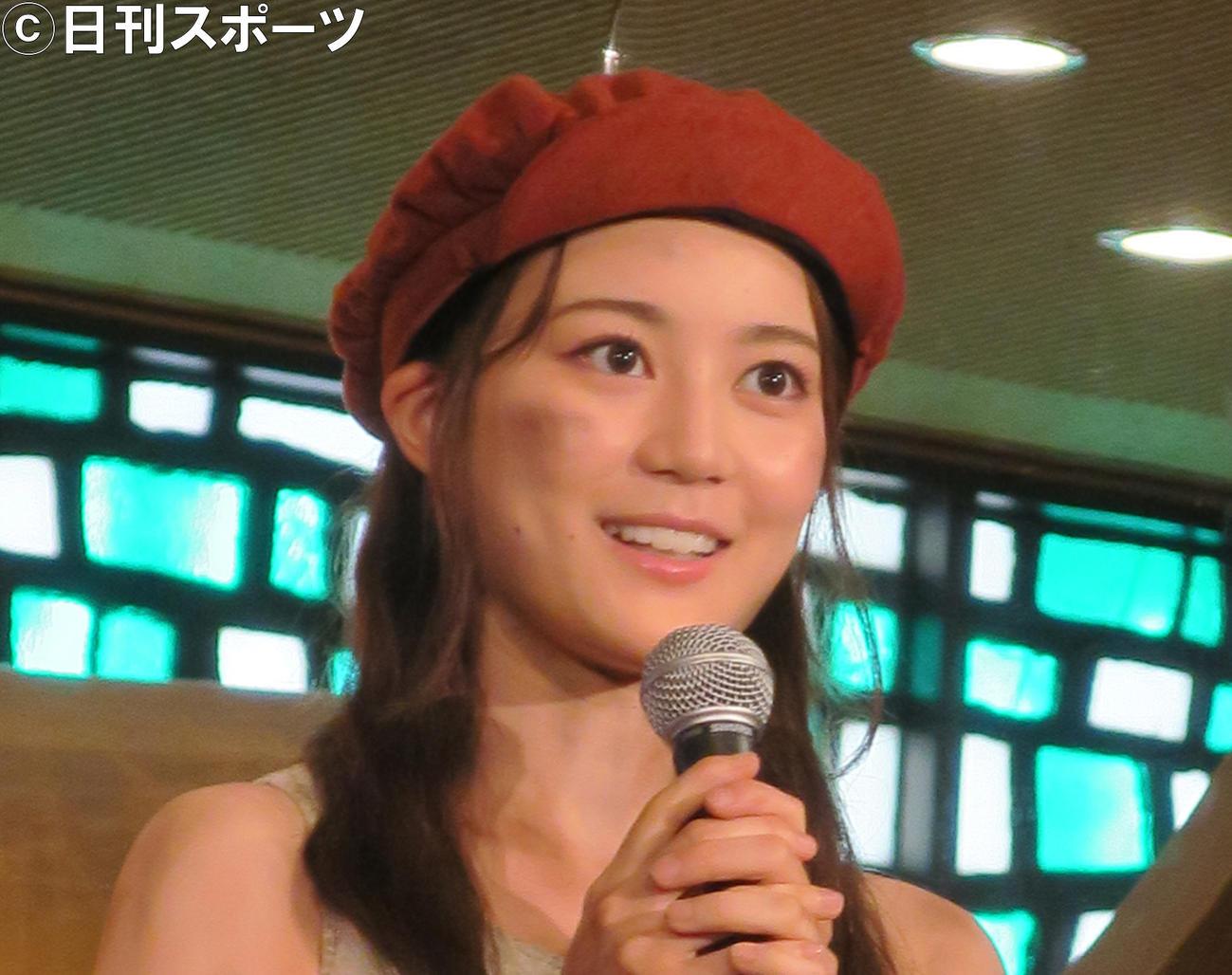 ミュージカル「レ・ミゼラブル」初日記念会見で意気込みを語る生田絵梨花(2021年5月撮影)