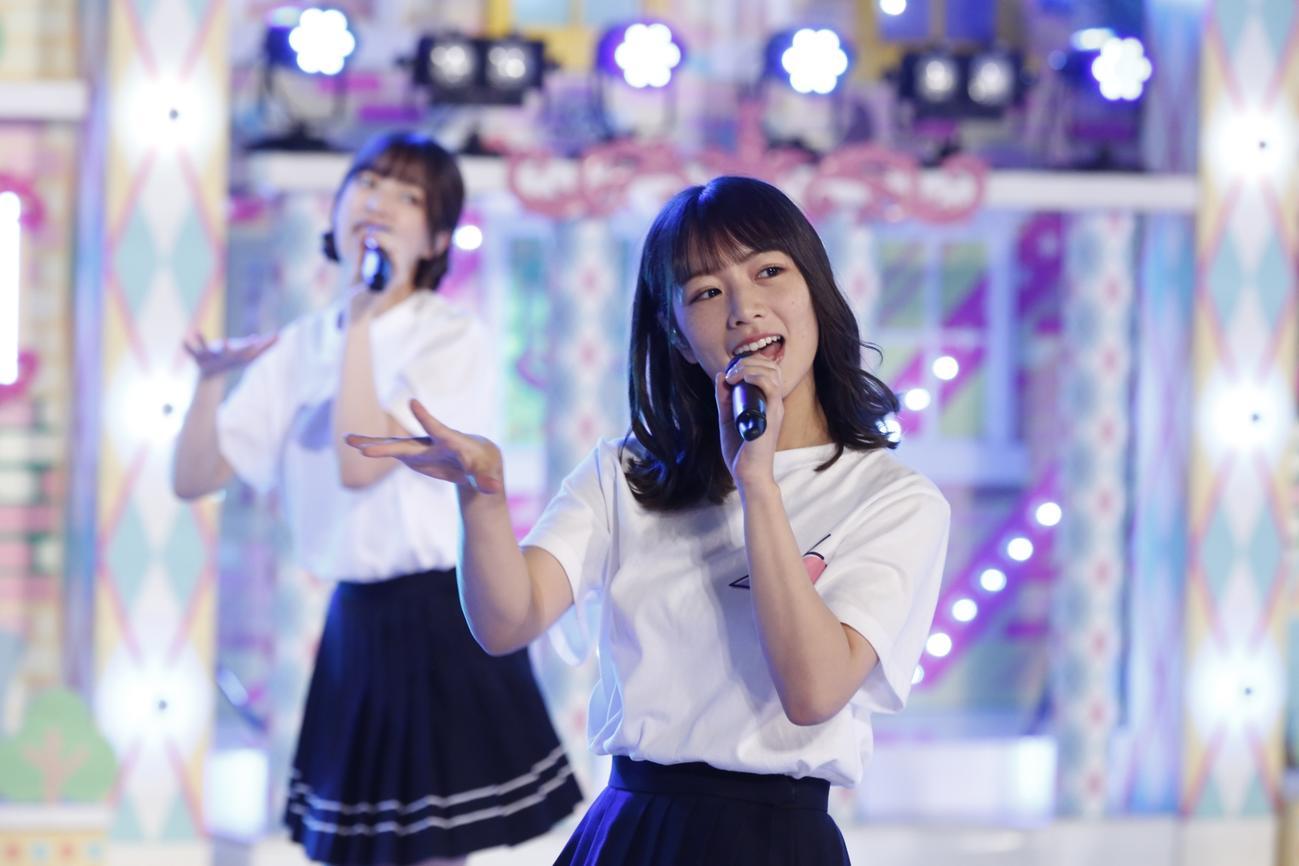 「乃木坂46時間TV」でライブパフォーマンスを披露した北野日奈子