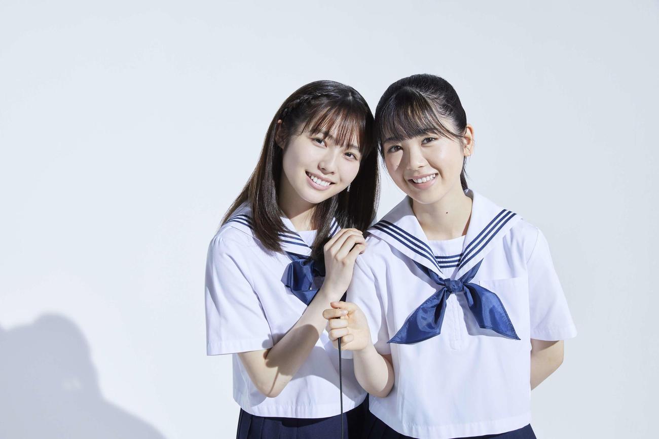 舞台「目頭を押さえた」でダブル主演する筒井あやめ(右)と秋田汐梨