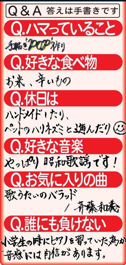 中村美優Q&A