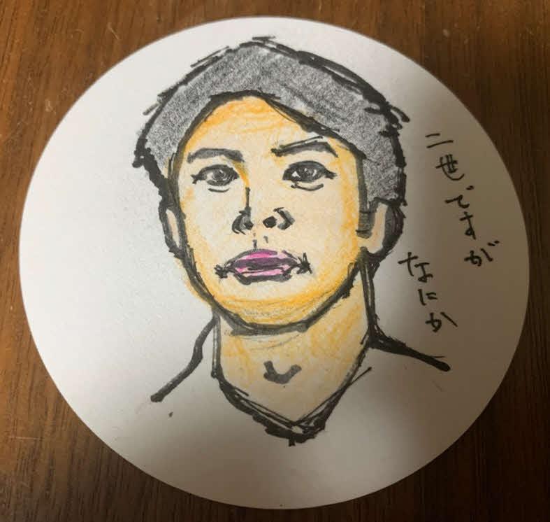 谷健二氏が描いた仲野太賀の似顔絵