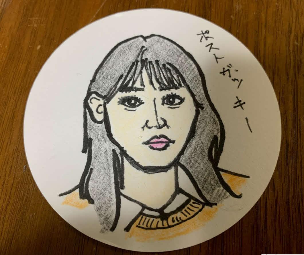 谷健二氏が描いた南沙良の似顔絵