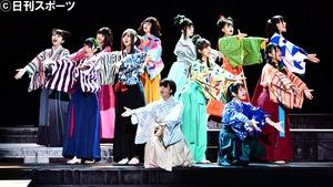 乃木坂46の3期生公演「見殺し姫」の公開ゲネプロに臨むメンバー(撮影・小沢裕)