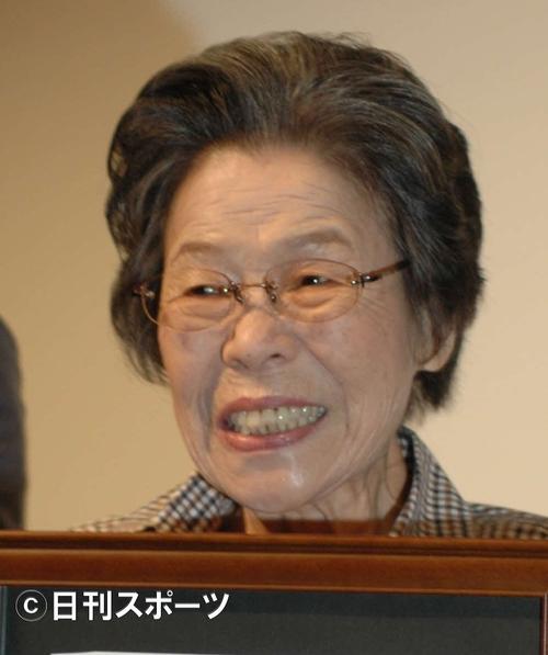 菅井きんさん(08年9月撮影)