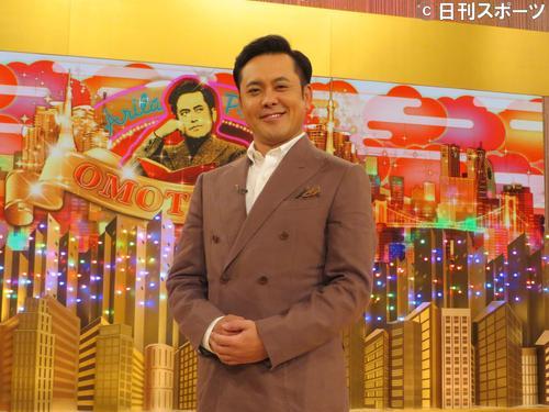 NHKで自身の冠番組の会見を行った有田哲平(撮影・中野由喜)