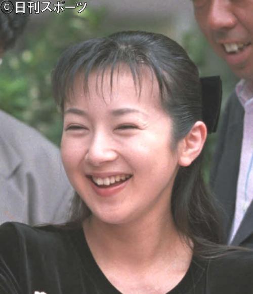 羽生善治の妻で元女優の理恵さん(1997年8月撮影)