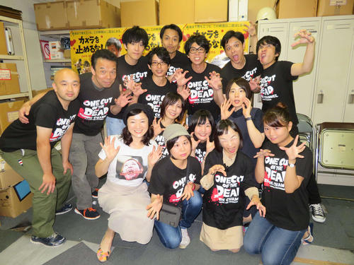 ニッカンスポーツコムの「カメラを止めるな!」座談会に参加した俳優陣(撮影・村上幸将)