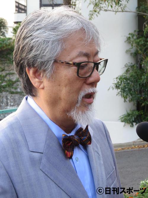 公演のキャンセルについて取材に応じた沢田研二