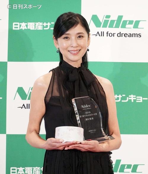 第1回「日本電産サンキョー ベストオルゴール賞」授賞式に出席した黒木瞳(撮影・遠藤尚子)