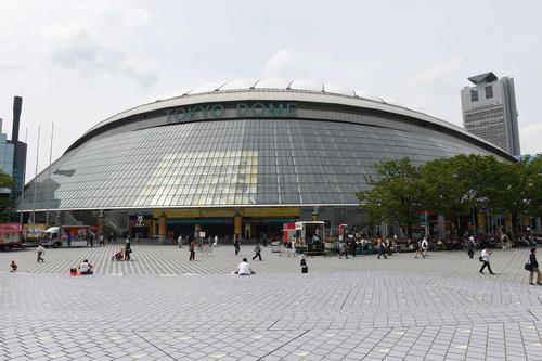 東京ドームの外観(2014年5月8日撮影)
