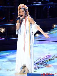 最優秀歌唱賞を受賞し、「アイノカタチ」を熱唱するMISIA(撮影・江口和貴)